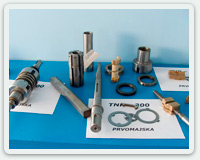Tooth racks, ball nuts, friction clutches, ball screws, gears, coupling parts and gearboxes.